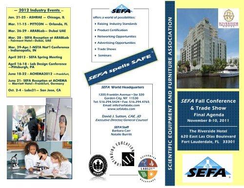 SEFA Fall Conference - Scientific Equipment and Furniture