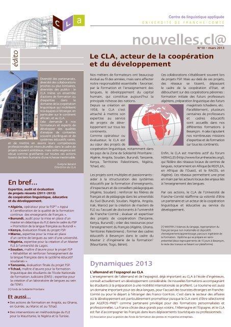 CLA newsletter n∞10_Mise en page 1 - Visa filer