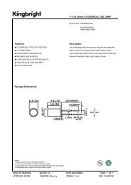 T-1 3/4 (5mm) CYLINDRICAL LED LAMP Features Description ...