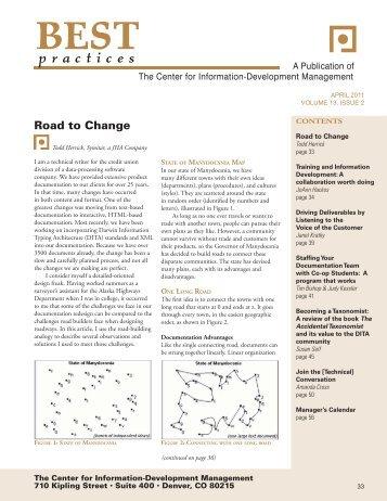 April Volume 13, Issue 2 - Center for Information-Development ...