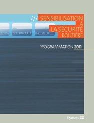 Programmation 2011 - Société de l'assurance automobile du Québec