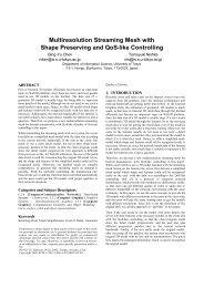 Multiresolution Streaming Mesh with Shape Preserving ... - CiteSeerX