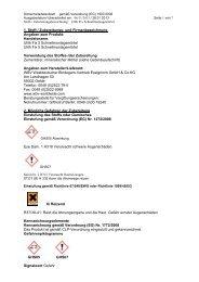 1. Stoff-/ Zubereitungs- und Firmenbezeichnung Angaben zum ...
