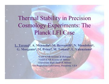 thermal stability in precision cosmology experiments