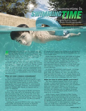 Summertime Is Swimming Time - National Environmental Services ...