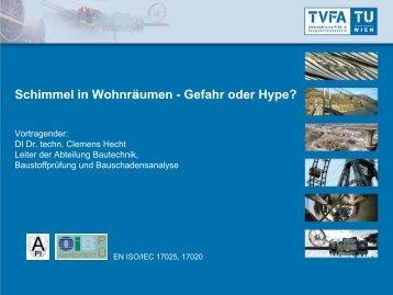 """KONZEPT zur Zertifizierung von """"Schimmelsanierungs ... - TVFA Wien"""