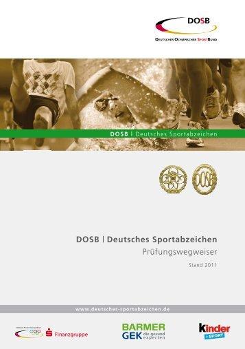 DOSB Sportabzeichen 2011 Prüfungswegweiser A5 ... - TSG Bruchsal