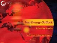 9 October, London - World Energy Outlook