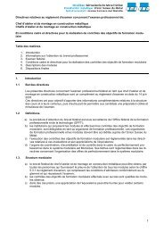 Directives relatives - Go4metal.ch