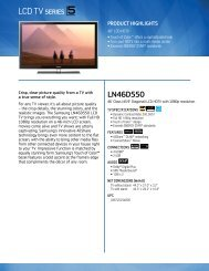 Samsung LN46D550 LCD HDTV - Quality TV Sales and Service