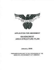 ravencrest area structure plan - Municipal District of Foothills