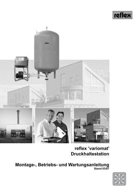 reflex 'variomat' Druckhaltestation Montage-, Betriebs- und ...