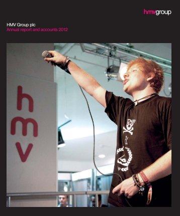 HMV Group plc Annual report and accounts 2012 - HMV.com