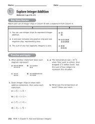 9.1 Explore Integer Addition