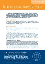 balancing food, activity & insulin - Australian Diabetes Council