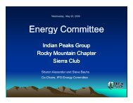 May 2009 - Sierra Club Rocky Mountain Chapter