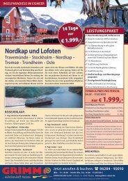 nur € 1.999,- - Grimm Reisen