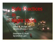 Safe Practices in Night Work - National Work Zone Safety ...