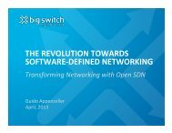 Reaping the Benefits of Software-Defined Networking - Ethernet ...