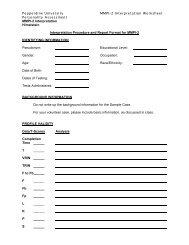 Pepperdine University MMPI-2 Interpretation Worksheet Personality ...
