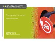 Energizing the World - Amdocs