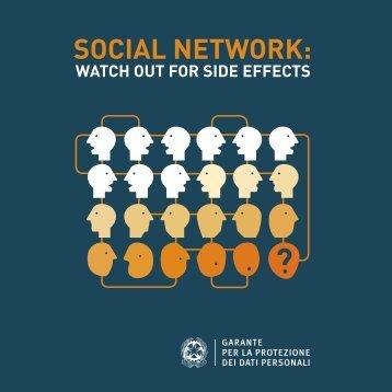 SOCIAL NETWORK: - Garante per la Protezione dei Dati Personali