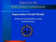 Appeal of Importation Permit Denial African Serval - New Mexico ...