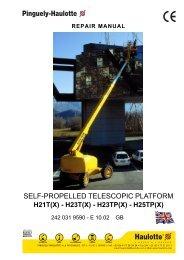 SELF-PROPELLED TELESCOPIC PLATFORM - AJ Maskin AS