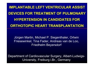 IMPLANTABLE LEFT VENTRICULAR ASSIST DEVICES FOR ...