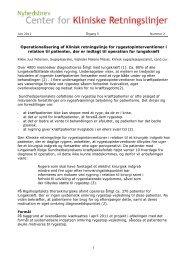 Operationalisering af Klinisk retningslinje for rygestopinterventioner i