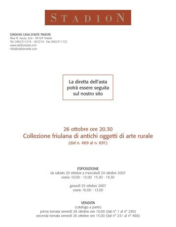 Collezione friulana di antichi oggetti di arte rurale - Stadion Casa d ...