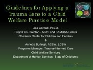 Guidelines for Applying a Trauma Lens to a Child Welfare Practice ...