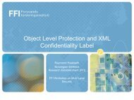 Object Level Protection and XML Confidentiality Labels