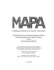 MAPA, die - Cognitive Science - Universität Osnabrück