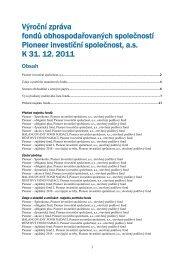 Výroční zpráva (PDF) - Pioneer Investments