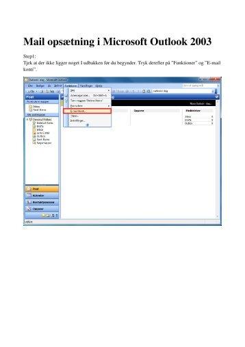 Mail opsætning i Microsoft Outlook 2003 - DLG Tele