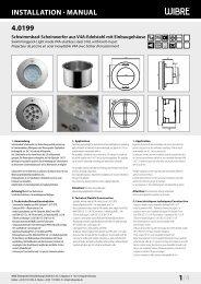 InstallatIon · Manual 4.0199 1/4 - Wibre