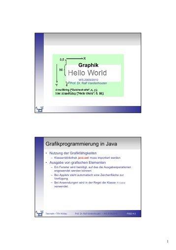 Graphik Grafikprogrammierung in Java - Telematik TH Wildau