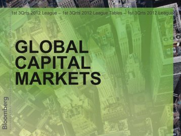 Global Capital Markets League Tables - Bloomberg