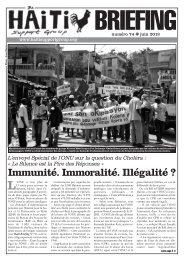Immunité. Immoralité. Illégalité ? - Physicians for Haiti