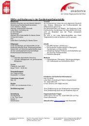 DRGs und Kodierung in der Gynäkologie/Geburtshilfe