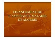 Financement de l'assurance maladie en Algérie - COOPAMI