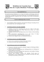 Richtlinien der Gemeinde Zams über die Vergabe öffentlicher ...