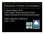Deficiencies, Findings, & Accreditation - Water Environment ...