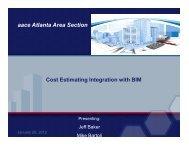 Cost Estimating with BIM - Atlanta Area Section