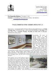 'walk through time' exhibit opens nov. 13 - City of Sarasota