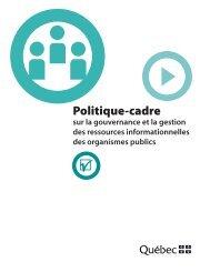 Politique-cadre sur la gouvernance et la gestion des ressources ...