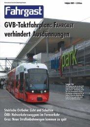 GVB-Taktfahrplan: FAHRGAST verhindert Ausdünnungen