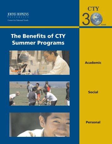 benefits of Summer Programs - Johns Hopkins Center for Talented ...