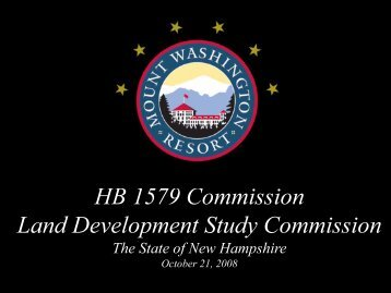 HB 1579 Commission Land Development Study ... - Bretton Woods